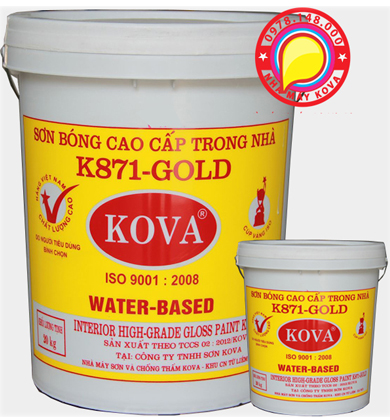 Sơn nước trong nhà K-871- bóng thùng 20kg